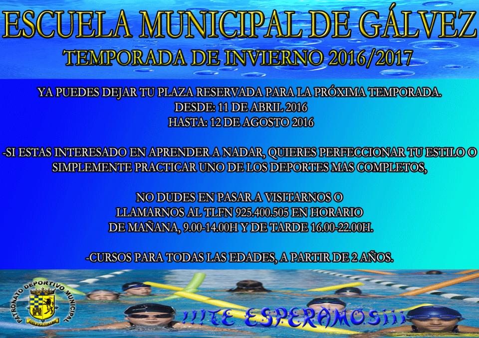 Escuela Municipal de Gálvez. Temporada de invierno 2016/2017