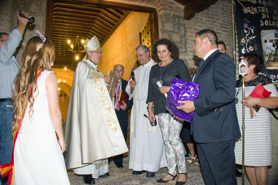 El arzobispo de Toledo inaugura la remodelación de la Ermita de Gálvez y su alumbrado artístico